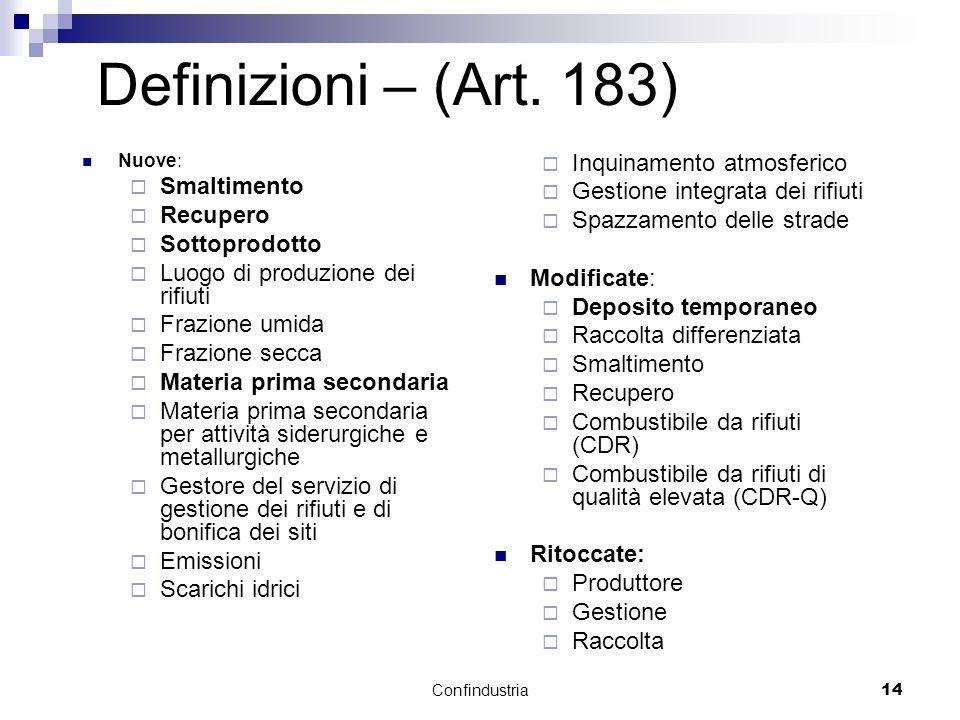 Confindustria14 Definizioni – (Art.