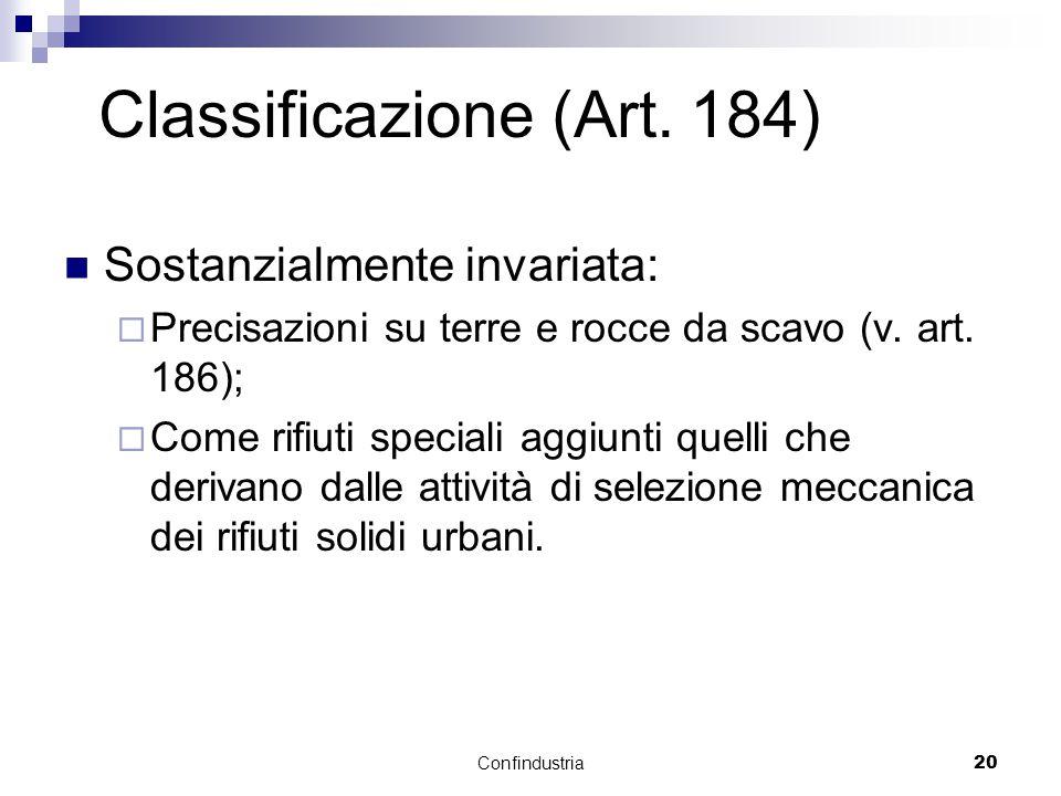 Confindustria20 Classificazione (Art.