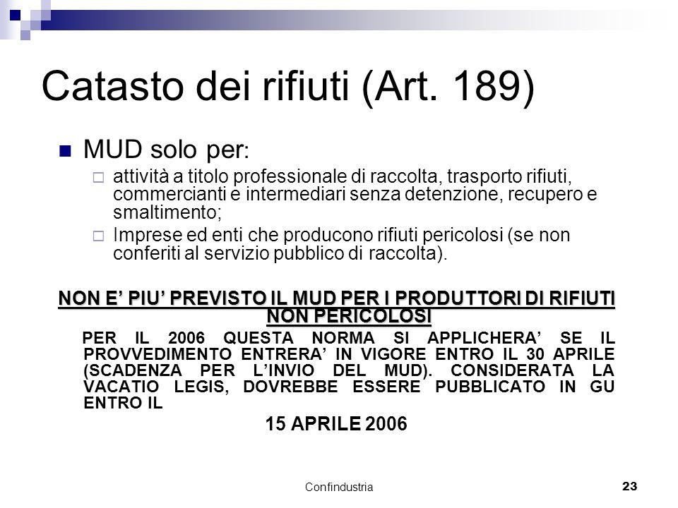 Confindustria23 Catasto dei rifiuti (Art.
