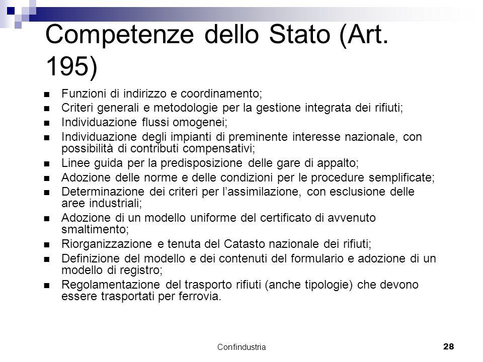 Confindustria28 Competenze dello Stato (Art.