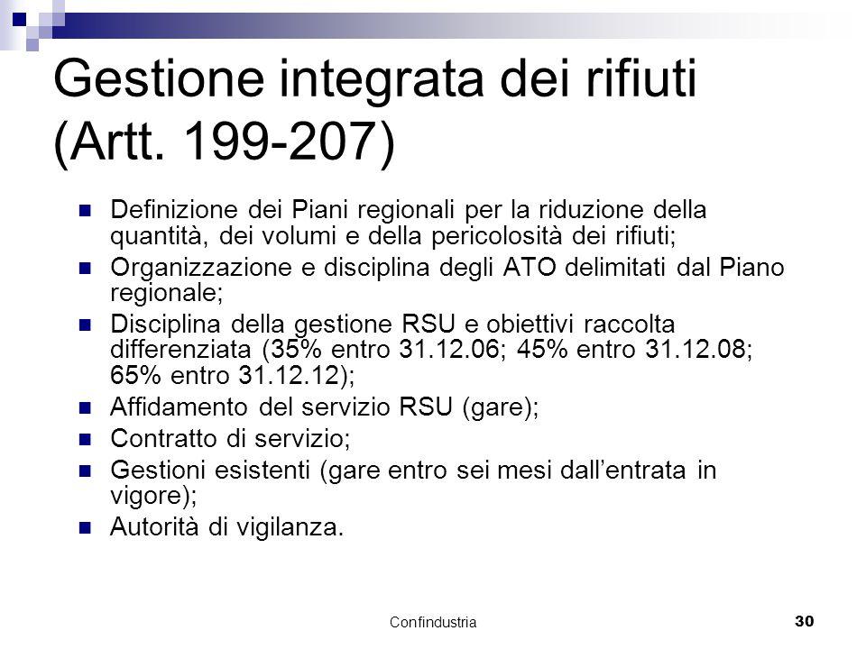 Confindustria30 Gestione integrata dei rifiuti (Artt.