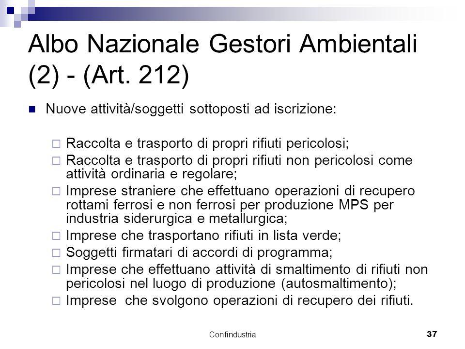 Confindustria37 Albo Nazionale Gestori Ambientali (2) - (Art.