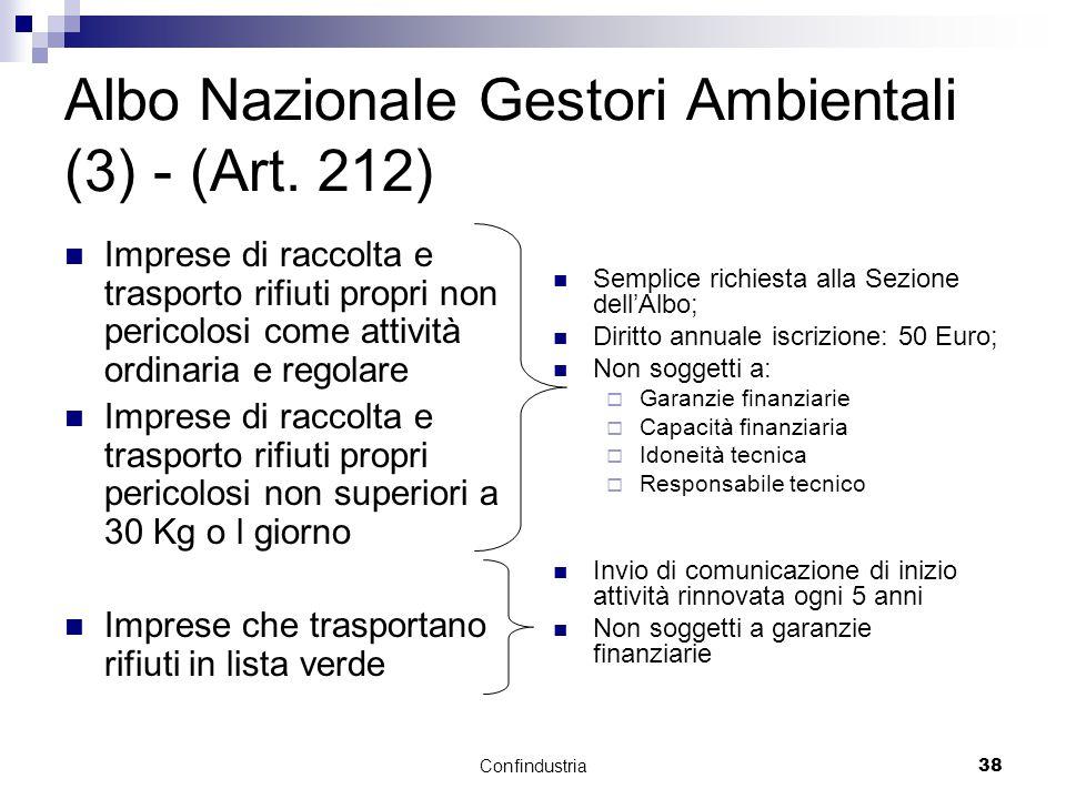 Confindustria38 Albo Nazionale Gestori Ambientali (3) - (Art.