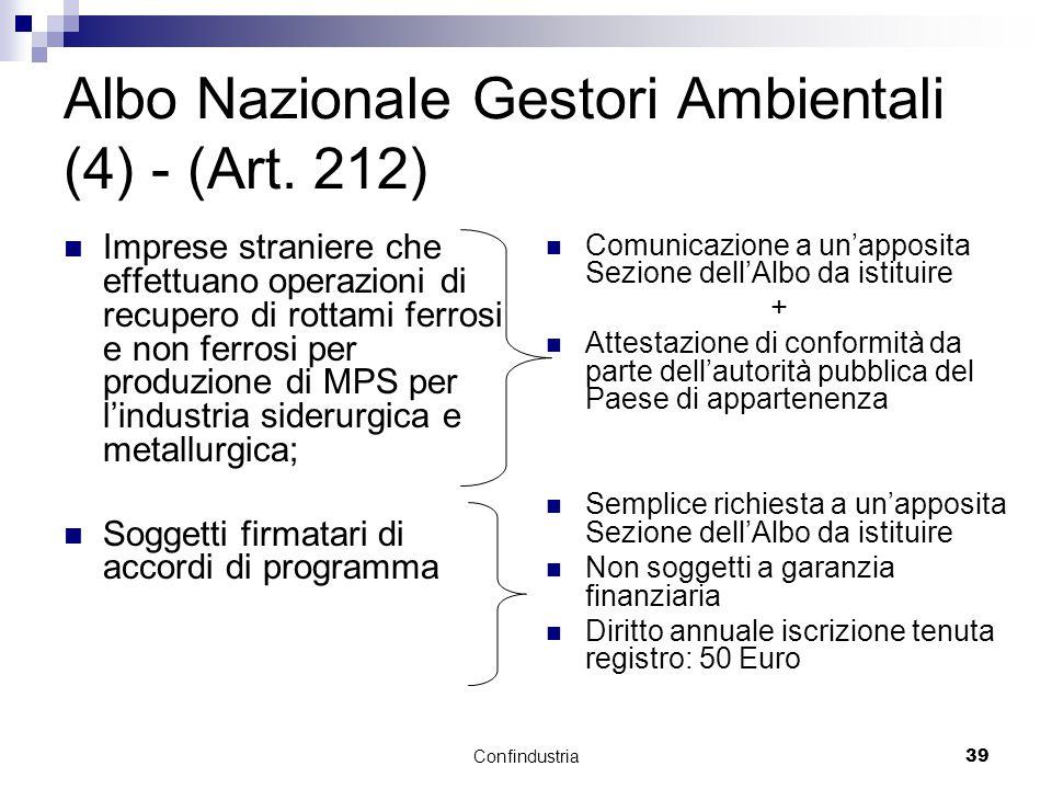 Confindustria39 Albo Nazionale Gestori Ambientali (4) - (Art.