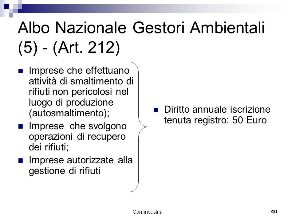 Confindustria40 Albo Nazionale Gestori Ambientali (5) - (Art.