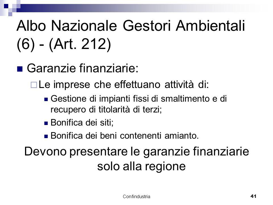 Confindustria41 Albo Nazionale Gestori Ambientali (6) - (Art.