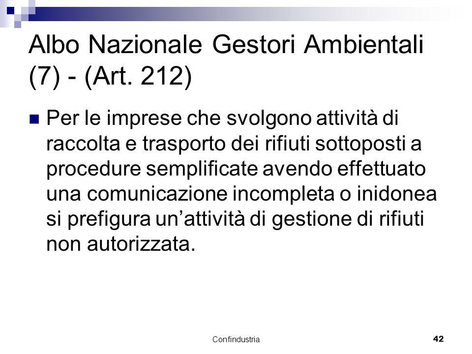Confindustria42 Albo Nazionale Gestori Ambientali (7) - (Art.