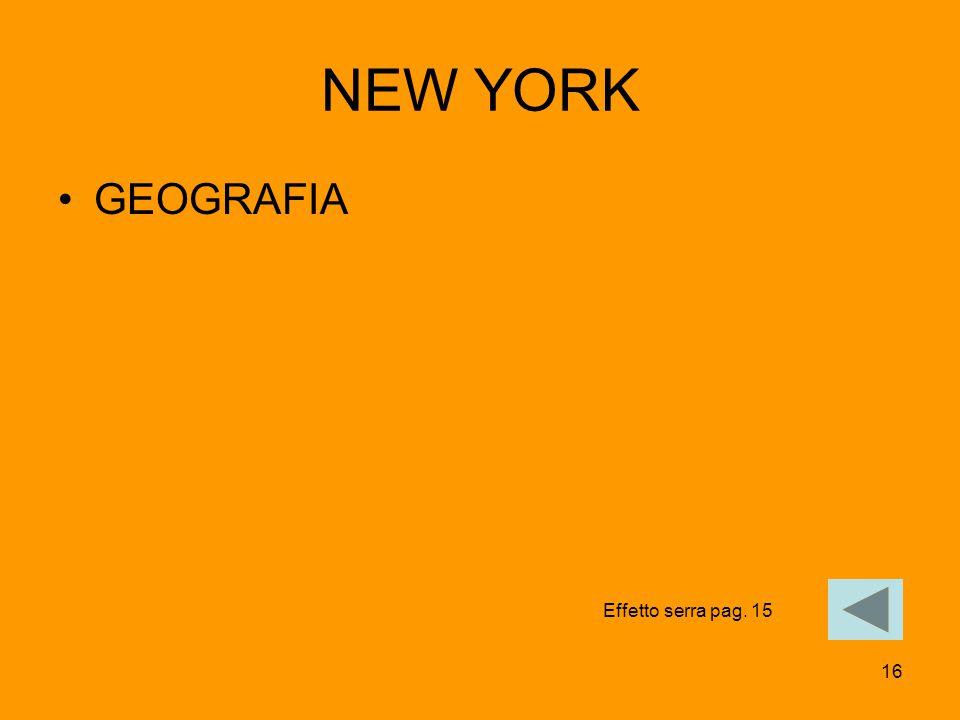 16 NEW YORK GEOGRAFIA Effetto serra pag. 15