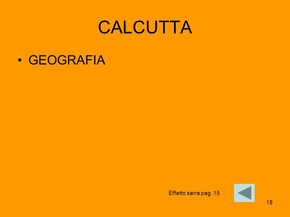 18 CALCUTTA GEOGRAFIA Effetto serra pag. 15