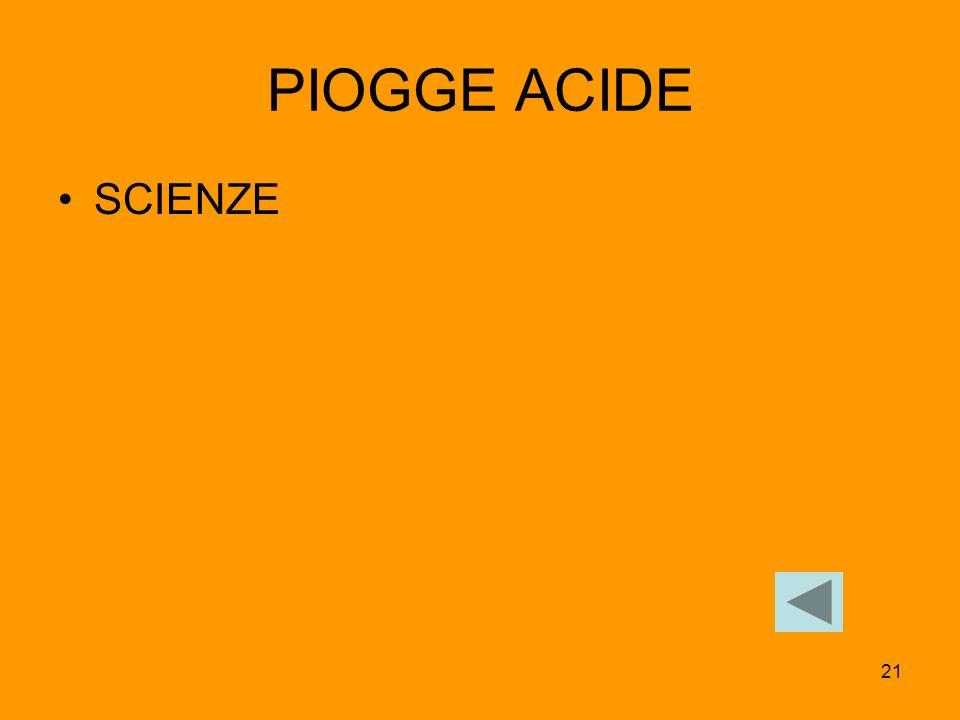 21 PIOGGE ACIDE SCIENZE