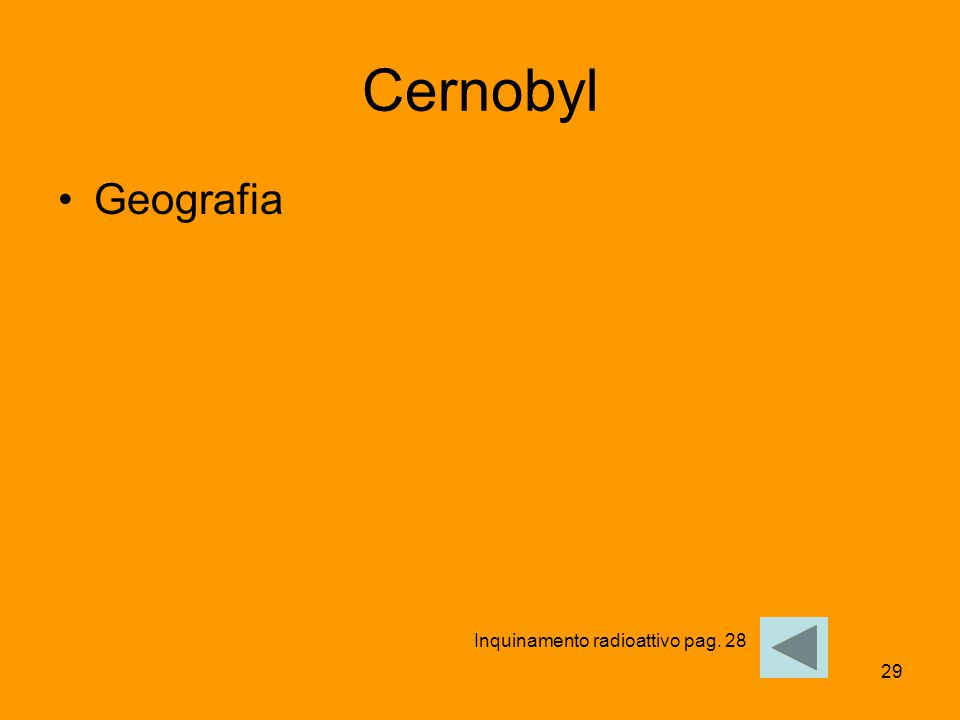 29 Cernobyl Geografia Inquinamento radioattivo pag. 28
