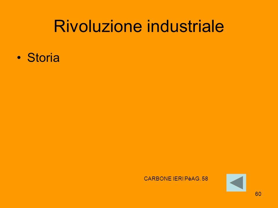 60 Rivoluzione industriale Storia CARBONE IERI PèAG. 58