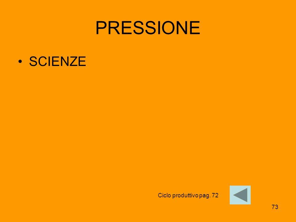 73 PRESSIONE SCIENZE Ciclo produttivo pag. 72