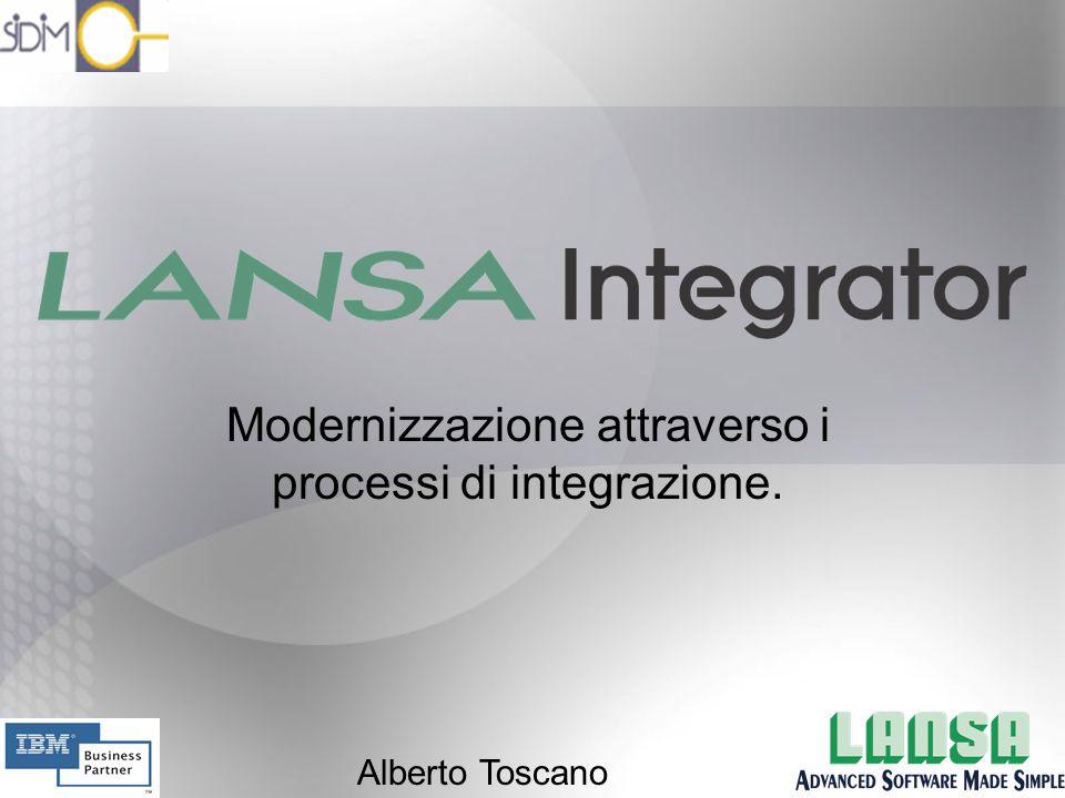 Modernizzazione attraverso i processi di integrazione. Alberto Toscano