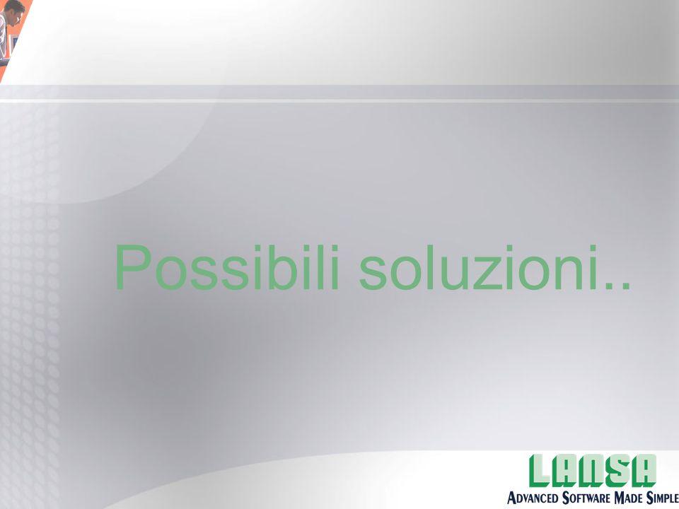 Possibili soluzioni..