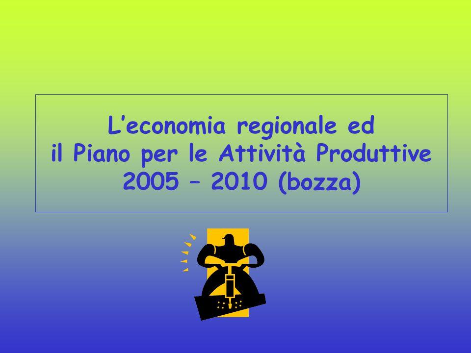 L'economia regionale ed il Piano per le Attività Produttive 2005 – 2010 (bozza)