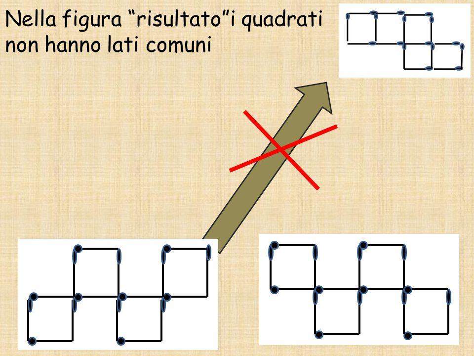 """Nella figura """"risultato""""i quadrati non hanno lati comuni"""