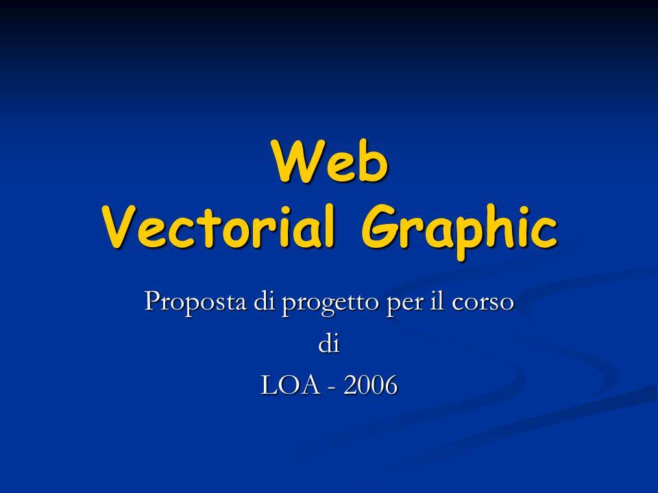 Web Vectorial Graphic Proposta di progetto per il corso di LOA - 2006