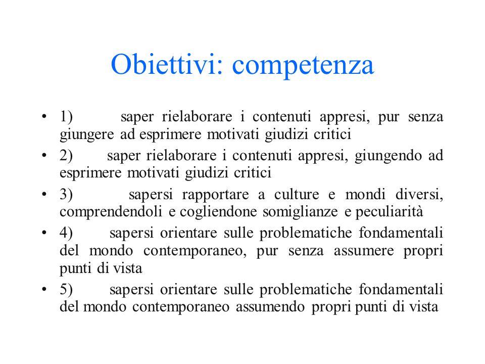 Obiettivi: capacità 1) saper riconoscere ed applicare regole 2) saper compiere semplici percorsi logici, riconoscendo rapporti spazio-temporali e di c