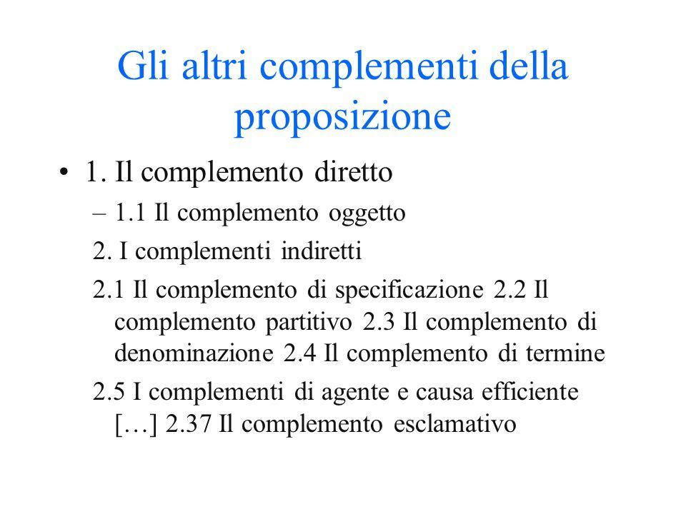 Gli altri elementi della proposizione: attributo e apposizione 1. L'attributo 2. L'apposizione