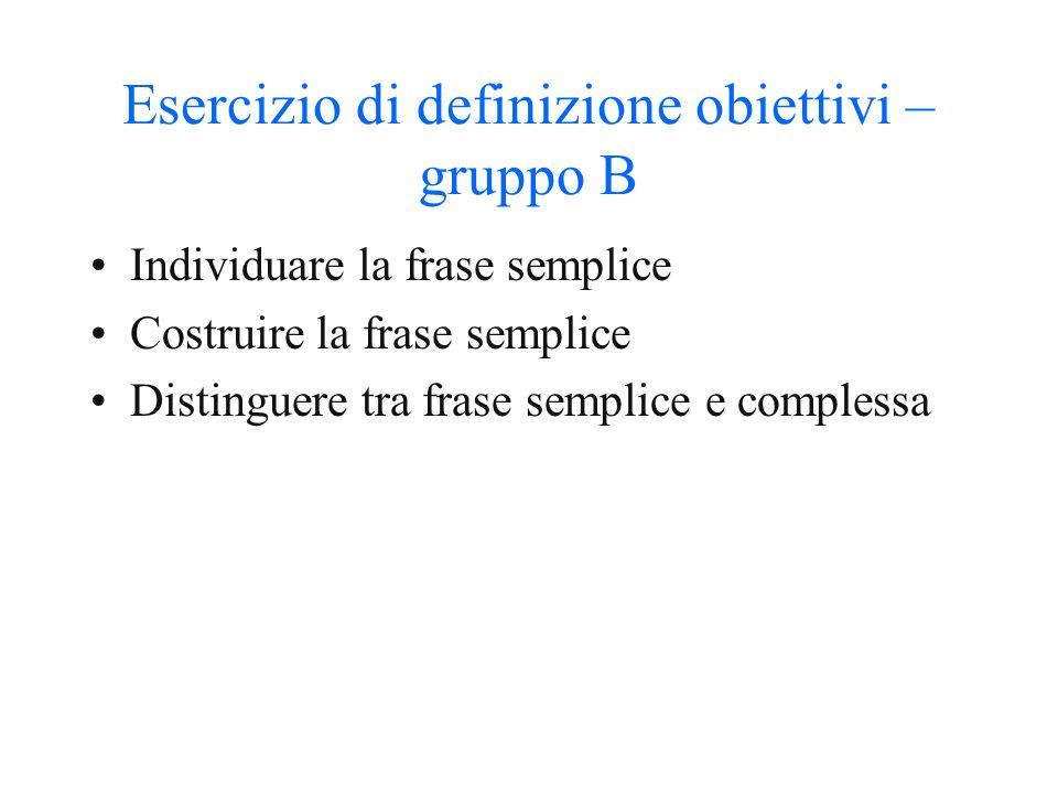 Attività precedenti l'unità didattica A) manuale B) definizione degli obiettivi (della singola unità didattica) C) esercizi D) tipologia degli eserciz