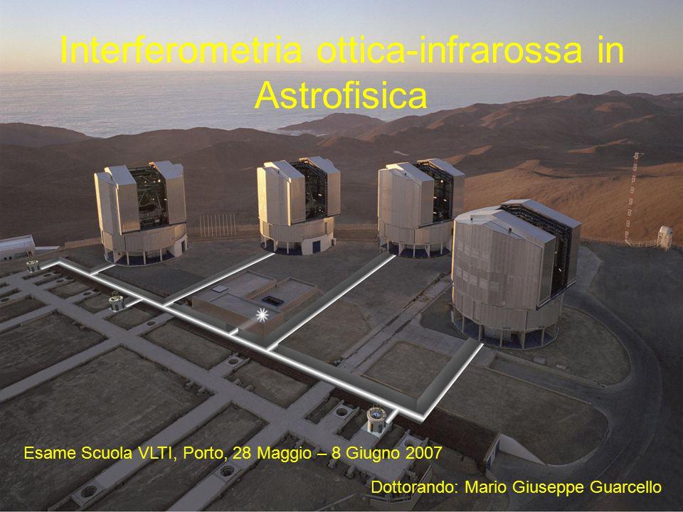 Interferometria ottica-infrarossa in Astrofisica Esame Scuola VLTI, Porto, 28 Maggio – 8 Giugno 2007 Dottorando: Mario Giuseppe Guarcello