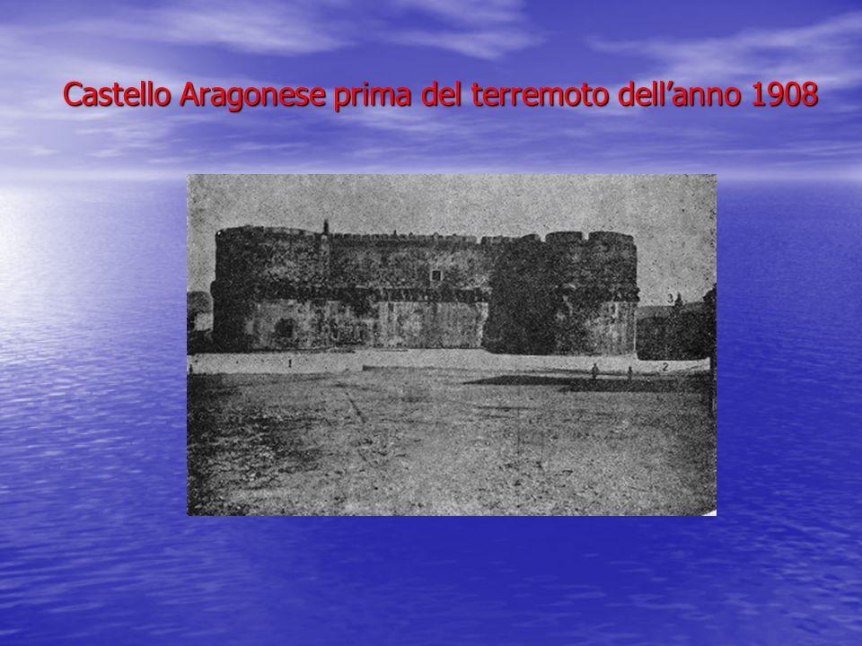 Castello Aragonese prima del terremoto dell'anno 1908