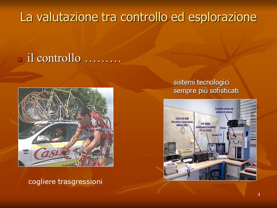 55 L'esplorazione dei processi Livelli di competenza Livelli di competenza elementare: .