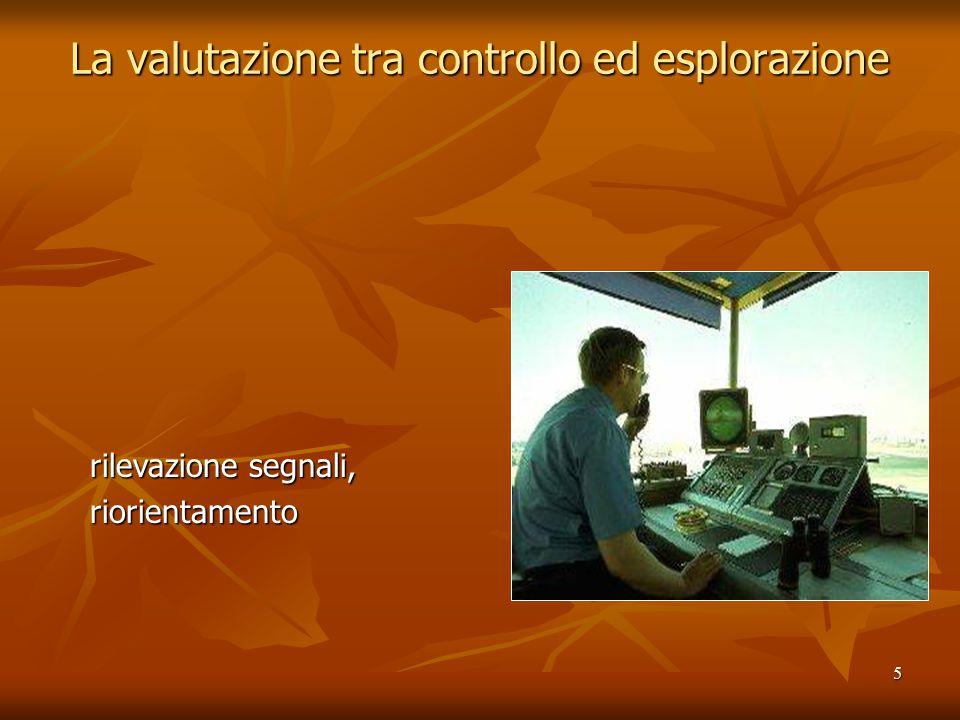 5 La valutazione tra controllo ed esplorazione rilevazione segnali, riorientamento
