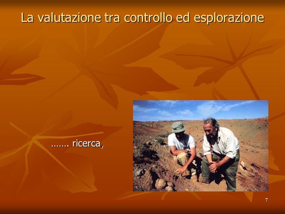 7 La valutazione tra controllo ed esplorazione ……. ricerca, ……. ricerca,