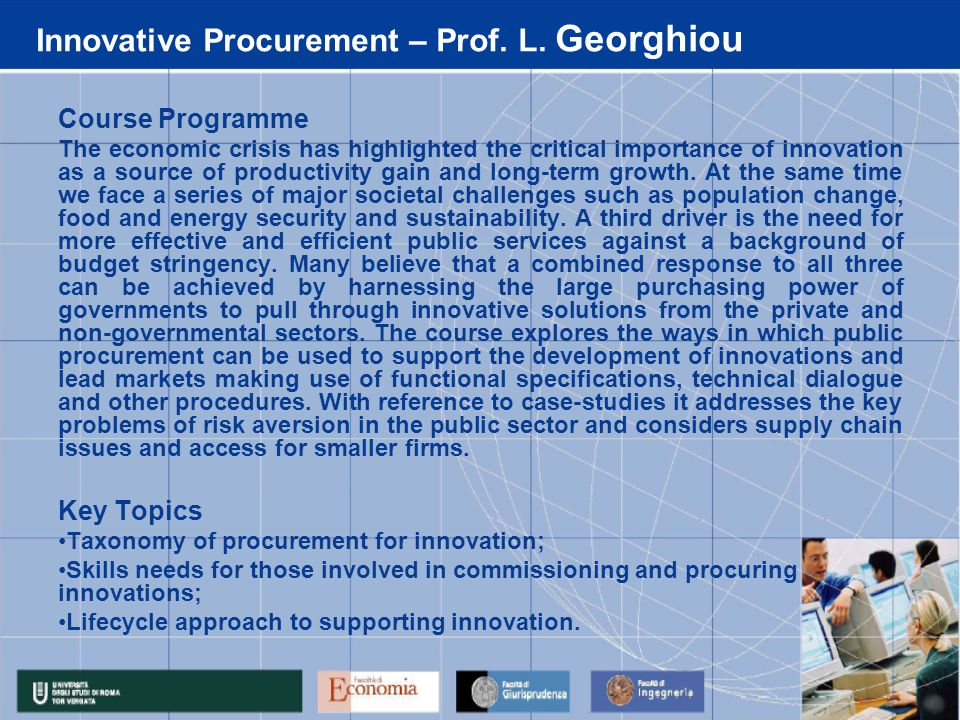 Innovative Procurement – Prof. L.