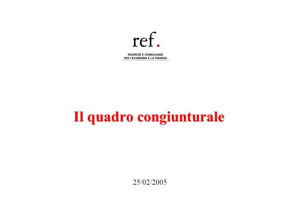 Il quadro congiunturale 25/02/2005