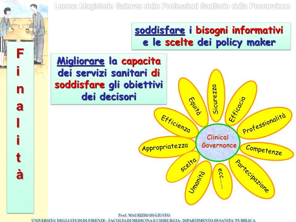 soddisfare i bisogni informativi e le scelte dei policy maker soddisfare i bisogni informativi e le scelte dei policy maker Migliorare la capacita dei