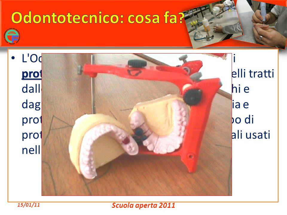 costruisce apparecchi protesi dentaria L'Odontotecnico costruisce apparecchi di protesi dentaria di qualsiasi tipo su modelli tratti dalle impronte fo