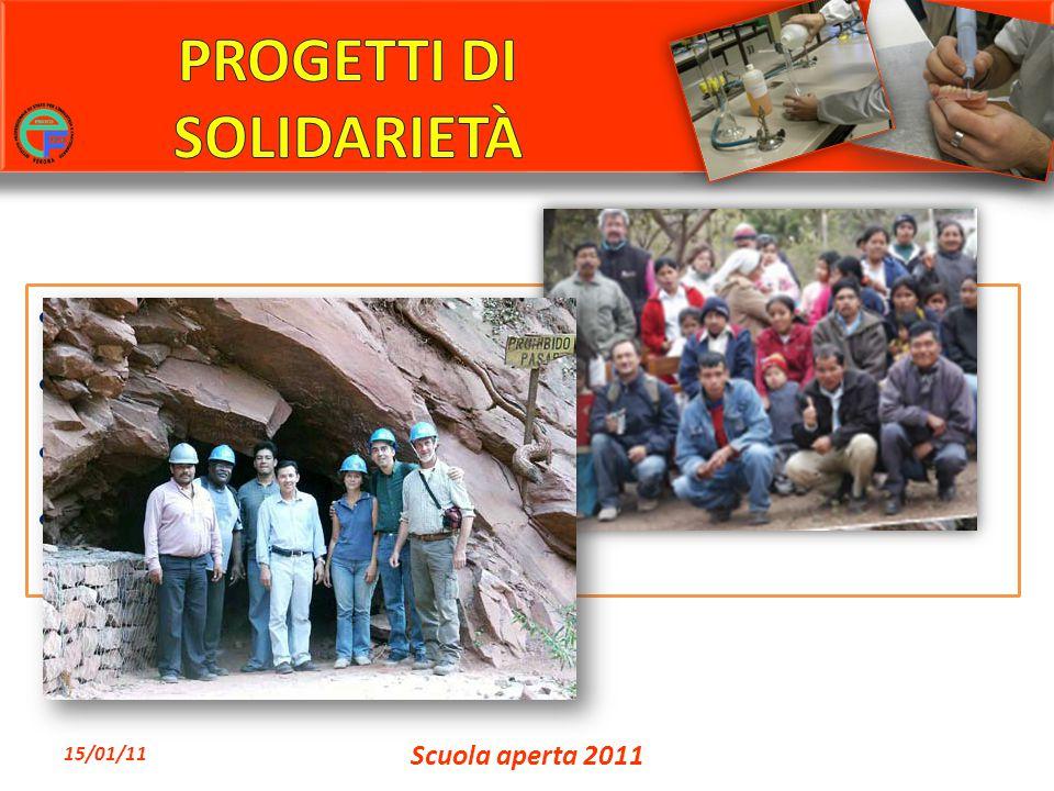 Progetto Bolivia Gruppo Fermi Donatori di Sangue Progetto Sorriso Progetto carcere 15/01/11 Scuola aperta 2011