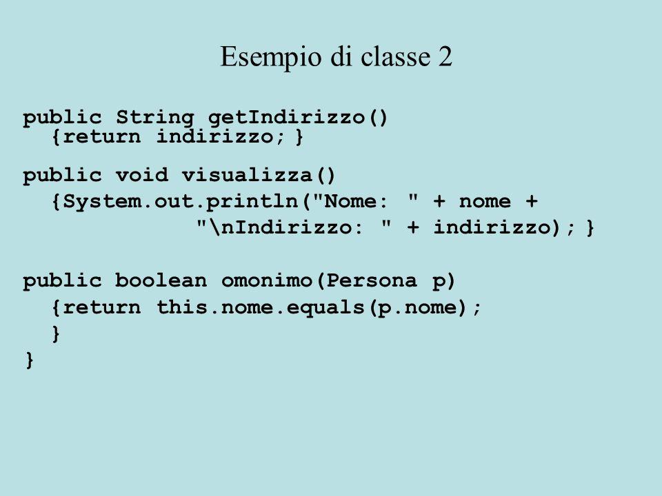 Allora come avrebbe fatto un oggetto di tipo Studente a modificare le variabili d'istanza ereditate dalla superclasse.