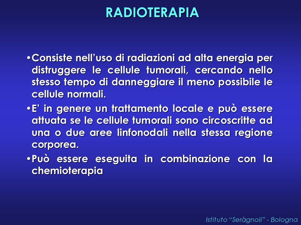 RADIOTERAPIA RADIOTERAPIA Consiste nell'uso di radiazioni ad alta energia per distruggere le cellule tumorali, cercando nello stesso tempo di danneggiare il meno possibile le cellule normali.