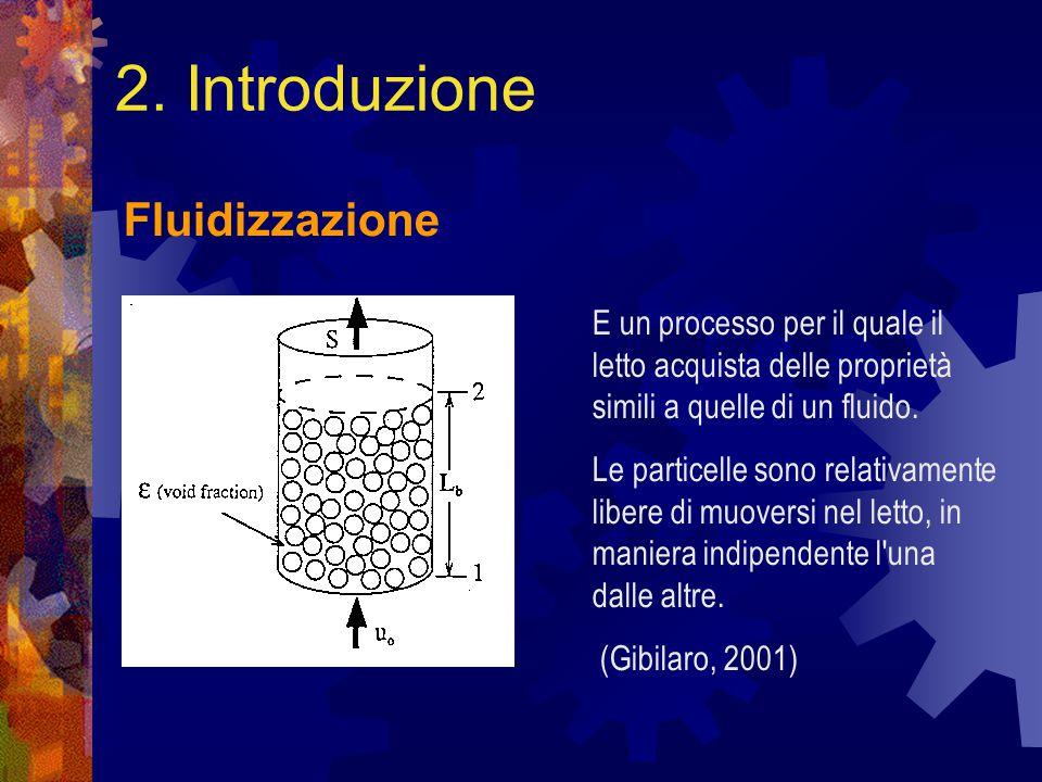 2. Introduzione Fluidizzazione E un processo per il quale il letto acquista delle proprietà simili a quelle di un fluido. Le particelle sono relativam
