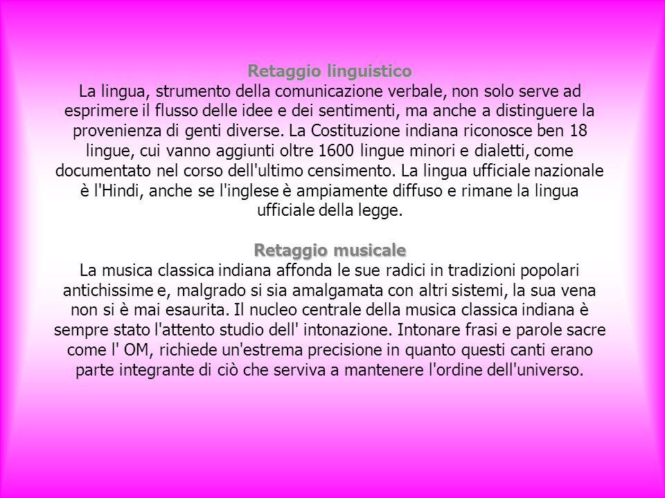 Retaggio linguistico Retaggio musicale Retaggio linguistico La lingua, strumento della comunicazione verbale, non solo serve ad esprimere il flusso delle idee e dei sentimenti, ma anche a distinguere la provenienza di genti diverse.