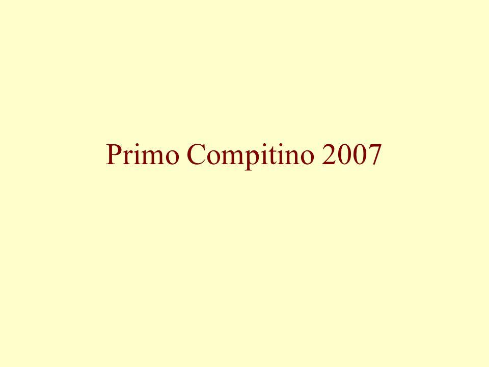 Primo Compitino 2007
