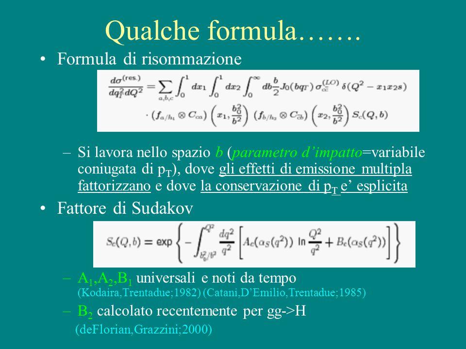 Qualche formula…….