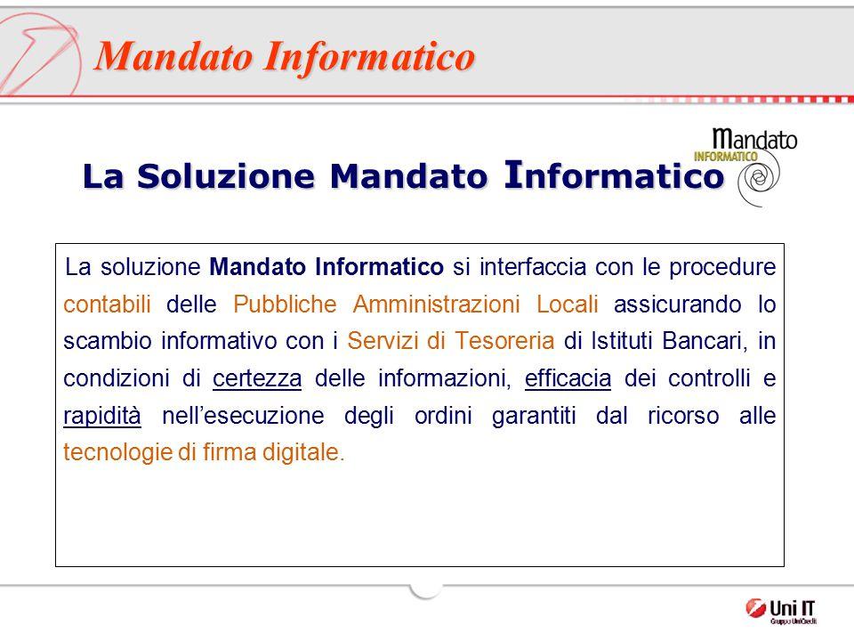 La soluzione Mandato Informatico si interfaccia con le procedure contabili delle Pubbliche Amministrazioni Locali assicurando lo scambio informativo c