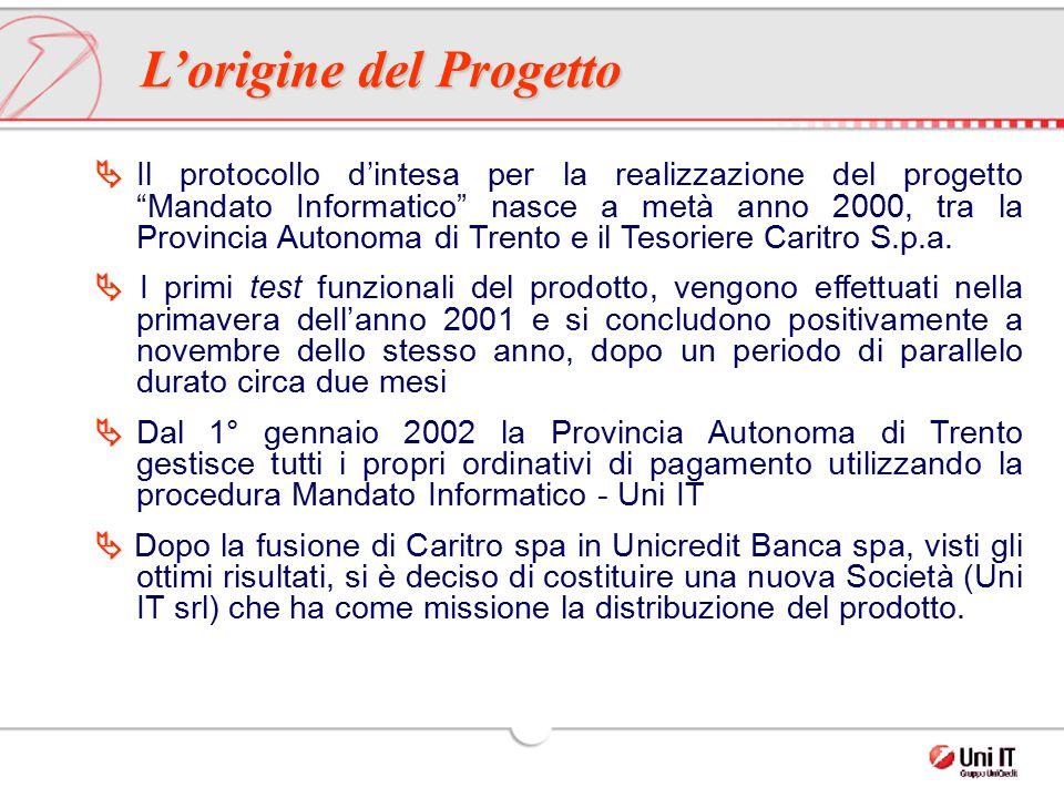 """  Il protocollo d'intesa per la realizzazione del progetto """"Mandato Informatico"""" nasce a metà anno 2000, tra la Provincia Autonoma di Trento e il Te"""