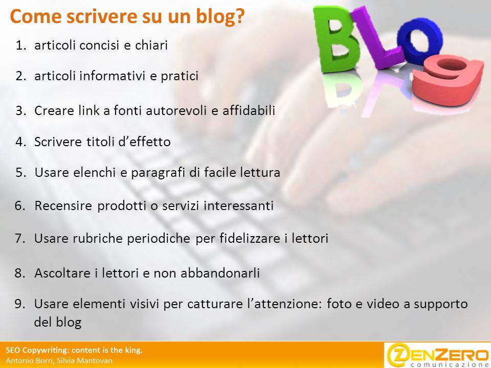Come scrivere su un blog.