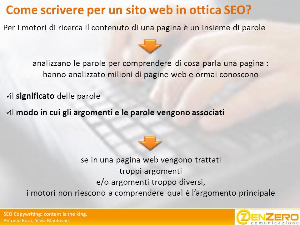 Come scrivere per un sito web in ottica SEO.
