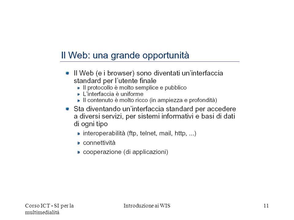 Corso ICT - SI per la multimedialità Introduzione ai WIS11
