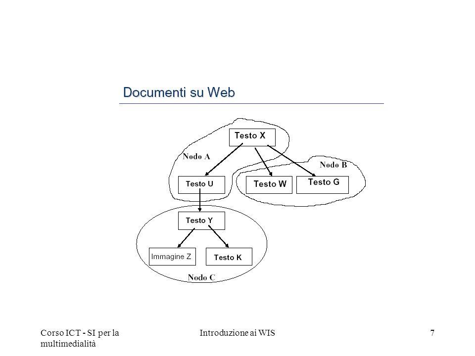 Corso ICT - SI per la multimedialità Introduzione ai WIS7
