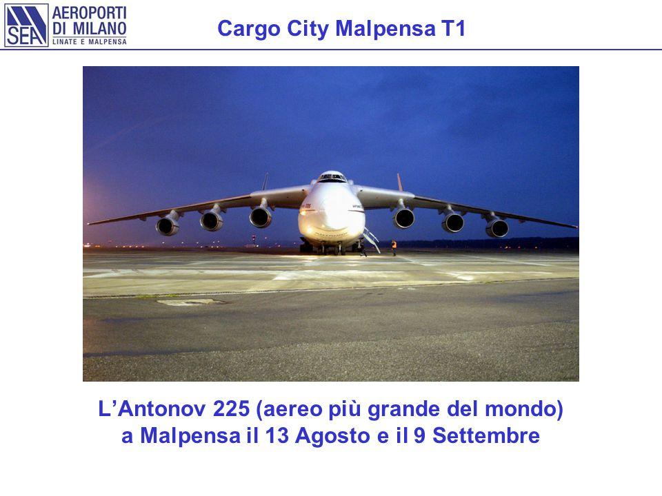 Cargo City Malpensa T1 L'Antonov 225 (aereo più grande del mondo) a Malpensa il 13 Agosto e il 9 Settembre