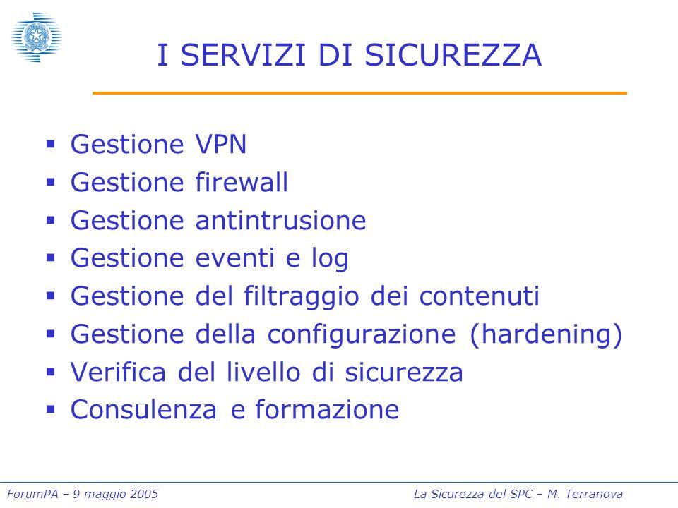 ForumPA – 9 maggio 2005La Sicurezza del SPC – M.