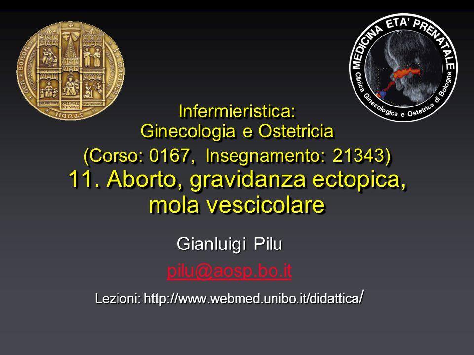 Infermieristica: Ginecologia e Ostetricia (Corso: 0167, Insegnamento: 21343) 11.